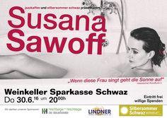 """Die Session vom jazzkaffee schwaz im Weinkeller Sparkasse Schwaz mit der Sängerin """"Susana Sawoff""""."""