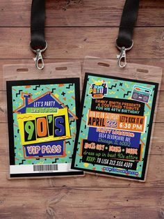 90's party 80's partyHip Hop Swagger VIP PASS by LyonsPrints