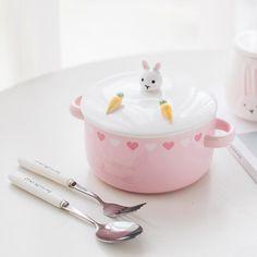 Kawaii Rabbit Bowl Kawaii Cooking, Lunch Box Containers, Cute Furniture, Cute Water Bottles, Keep Food Warm, Soup Bowl Set, Cooking Supplies, Kawaii Accessories, Cute Room Decor
