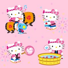 Hello Kitty (((o(*゚▽゚*)o))) traditional Japanese style