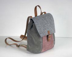 MACBOOK 13 Filz-RUCKSACK Rucksack Tasche von FUTERAL auf Etsy