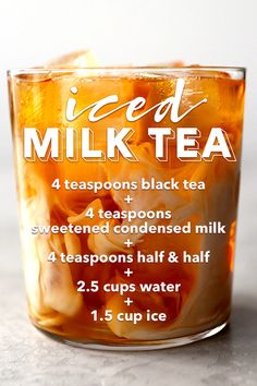 Sweet and delicious iced milk tea. Sweet and delicious iced milk tea. Milk Tea Recipes, Iced Tea Recipes, Coffee Recipes, Yummy Drinks, Healthy Drinks, Yummy Food, Fruity Alcohol Drinks, Healthy Starbucks Drinks, Ice Milk