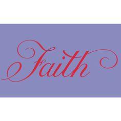 Faith Stencil