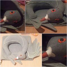 Pigeon neck pillow Neck Pillow, Sewing Box, Pigeon, Crafts, Manualidades, Handmade Crafts, Craft, Arts And Crafts, Artesanato