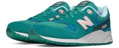 New Balance 999 Elite Edition Lost Worlds TEAL Premium Comfort Sneaker New Balance, Cool Trainers, Sneakers Mode, Comfortable Sneakers, Colorful Shoes, Retro Shoes, Womens Fashion Sneakers, Casual Shoes, Teal