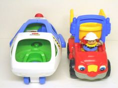 Fisher-Price Little People Lot (2) Buzz Lightyear Space Ship, Dumpety Dump Truck #FisherPrice - Busy Bee Variety eBay Store