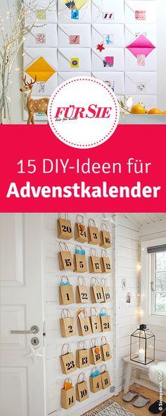 15 DIY-Ideen für Advenstkalender, die man gemeinsam mit Kindern basteln kann.