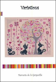Variations is the title of this cross stitch pattern from Camille Colje-Camps.