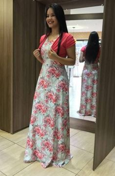Very cute modest Pentecostal maxi dress Modest Dresses, Modest Outfits, Modest Fashion, Elegant Dresses, Cute Dresses, Casual Dresses, Girls Dresses, Blue Skirt Outfits, Dress Outfits