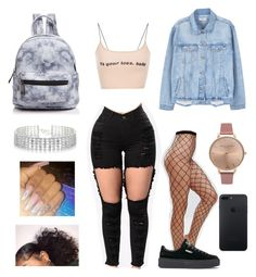 Untitled #51 by ashanticollins3 on Polyvore featuring polyvore, fashion, style, MANGO, ASOS, Puma, Street Level, Olivia Burton, Red Herring and clothing