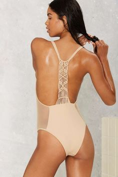 Flook the Label Catalina Macrame Swimsuit   Shop Clothes at Nasty Gal!