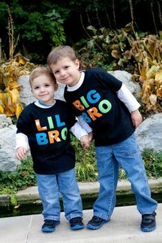 Big brother/Little brother shirts by Fit For A Prince.