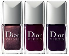 Dior Les Vernis Violets Hypnotiques Nail Polish Collection. Love these colors<3
