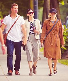 ginny, josh & jmo out for an after dinner walk 7.19.13