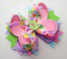 Easter stacked hair bow baby easter bow easter bow easter over the top bow easter outfit easter yellow green blue bow easter boutique of bow USD) by Boutiqueofbeauty Blue Hair Bows, Girl Hair Bows, Blue Bow, Girls Bows, Egg For Hair, Stacked Hair, Boutique Hair Bows, Little Girl Hairstyles, Baby Bows