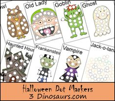 Halloween Dot Marker Pages - 23 pages - 3Dinosaurs.com