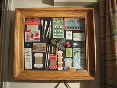 Collage of vintage sewing items | A collection of old sewing… | Flickr