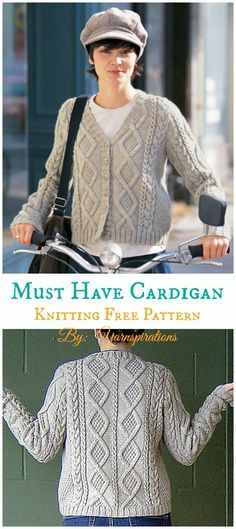 28dbc6325d557b Must Have Cable Cardigan Knitting Free Pattern - Frauen   Cardigan   Kostenlose  Knitti .