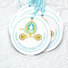 80fe577a0 Cinderella Thank You Tags / Cinderella Coach Thank You by MrOzNaps  Cinderella Coach, Cinderella Party