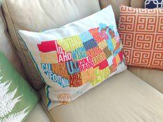 OAKLAND Map Poster Local Love Pinterest - Us map pillow