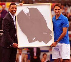 Men in Black Suit for Roger Federer