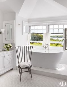light, bright, white bathroom