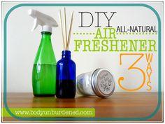 DIY non-toxic air freshener: 3 ways via @bodyunburdened