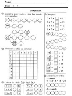 Preschool Activities, Worksheets, Free Printables, Coloring Pages, Periodic Table, Learning, Pin On, Baby, Crafts