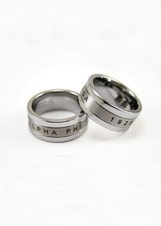 Alpha Phi Omega Tungsten Ring, I'd love this as a thumb ring or right hand ring!