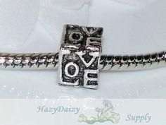 Love Cube European Beads  Sku233 by HazyDaizySupply on Etsy, $4.50