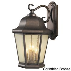 Sea Gull Lighting Martinsville Large in. W Corinthian Bronze Outdoor 17 in. Wall Mount Lantern w/Clear Seeded Glass Panels Exterior Lighting, Outdoor Wall Lighting, Wall Sconce Lighting, Wall Sconces, Landscape Lighting, Lighting Ideas, Garage Lighting, Kitchen Lighting, Outdoor Decor