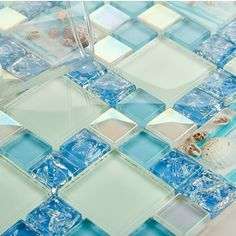 Sheet size:300x300mm , Thickness:8mm , Collection:Glass Mosaic Tiles ,
