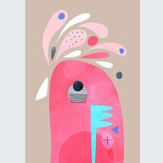 Galah by Peter Cromer Australian Painting, School Murals, Japan Painting, Watercolor Painting Techniques, Art Curriculum, Bird Illustration, Bird Pictures, Art For Art Sake, Fish Art