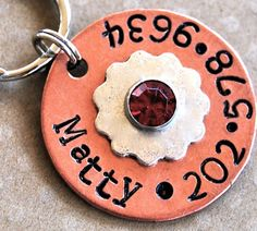 Cute dog tag!  Want to do something like this but maybe one that allows two phone numbers (home and cell)