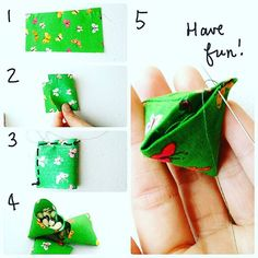 """""""A little tute for making this tiny bean bags for the game knuckle bones / batu seremban ... rectangle size is 2 x 4 inches. now go make 'em and have fun…"""""""