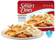 Weight Watchers® Smart Ones® Slow Roasted Turkey Breast The best! I usually end the day with 5 points left and if I am really hungry this Smart One is very filling and tastes great! Weight Watchers Smart Ones, Weight Watchers Meals, Low Carb Frozen Meals, Ww Recipes, Cooking Recipes, Slow Roasted Turkey, Lean Cuisine, Roast Turkey Breast, Pasta Primavera