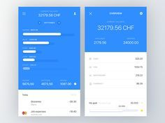 Dribbble - Expense tracking overview by Miklos Barton