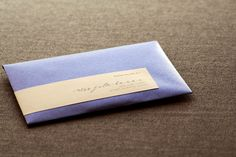 Modern Calligraphy Script Wedding Invitation shown in Sapphire Blue, Gold, Grey and Cream, Build-Your-Invite Collection - SAMPLE. $6.00, via Etsy.