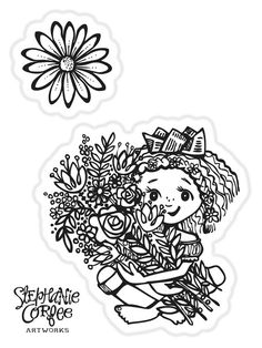 Bouquet Stamp Set by justatraceco on Etsy