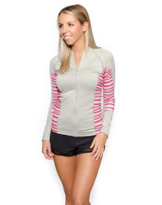 Women's Trestles Long Sleeve Full Zip Rashguard