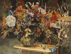 батик, курсы батика, шелк, роспись по шелку, silk painting, hand painted silk, batik, silk painting workshop, букет, цветы