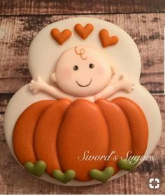 Items Similar To Fall Baby Shower Invitations Printable . 10 DIY Baby Shower Cupcake Recipes That Excite Shelterness. Fall Cookies, Pumpkin Cookies, Cute Cookies, Crazy Cookies, Baby Shower Fall, Fall Baby, Cupcakes, Cupcake Cookies, Sugar Cookies