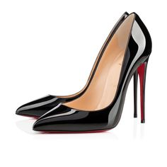 Pigalle Follies 120 mm with superfine stiletto heel, smooth black patent leather. Christian Louboutin Heels Women Shoes