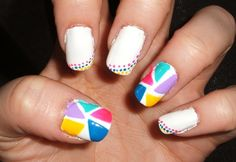 White With Dots And Tiangles Of Color by ~lettym on deviantART