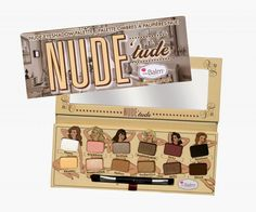 Nude 'tude Palette by The Balm. Nude 'tude Palette by The Balm. The Balm Makeup Eyeshadow Makeup Eyeshadow Palette, Nude Eyeshadow, Nude Makeup, Beauty Makeup, Eyeliner, Eye Palette, Makeup Set, Neutral Palette, Beauty Box