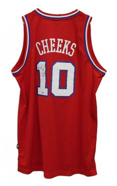 "AAA Sports Memorabilia LLC - Maurice Cheeks Philadelphia 76ers Autographed Red Reebok Jersey Inscribed ""83 Champs"", $239.95 (http://www.aaasportsmemorabilia.com/nba-memorabilia/maurice-cheeks-philadelphia-76ers-autographed-red-reebok-jersey-inscribed-83-champs/)"