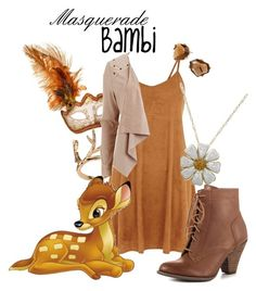 """""""Masquerade: Bambi"""" by jivy44 ❤ liked on Polyvore featuring Robert Lee Morris, Masquerade, Mojo Moxy and Object Collectors Item"""