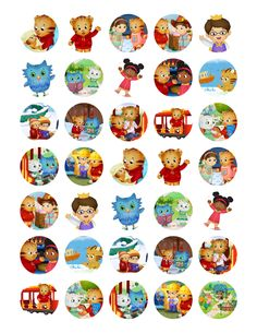 Daniel Tiger Neighborhood BOttle Cap Images,Hair Bows, Necklaces