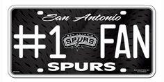 San Antonio Spurs License Plate - #1 Fan