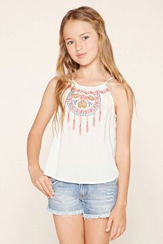 Girls Embroidered Cami (Kids) #f21kids